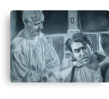 Clarence and George Canvas Print