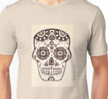 Sugar Skull in ink Unisex T-Shirt