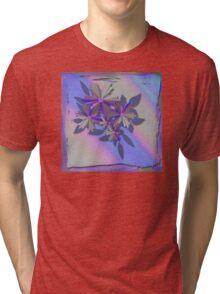 Pinwheel Floral With Texture Tri-blend T-Shirt