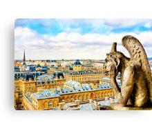 Paris - Oh Hum! - Parisian Gargoyle Canvas Print