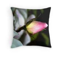 A Rosebud not of Red Throw Pillow
