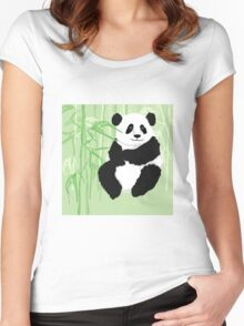 Green panda Women's Fitted Scoop T-Shirt