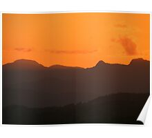 The Lake District: Sunset Over The Langdales Poster