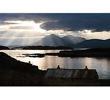 Isle of Skye from Coillegillie, Applecross Peninsula, Scotland. Photographic Print