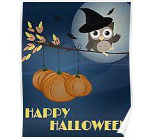 Owl Happy Halloween Poster