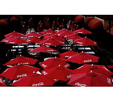 Red  Umbrella's    Photographic Print