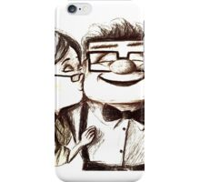 Carl and Ellie Fredricksen hugs and kiss iPhone Case/Skin