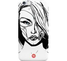 Calavera Comic Chick iPhone Case/Skin