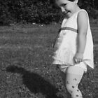 Mischieveous vintage doll - in Black & White by Ghelly