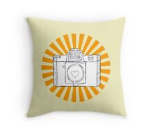 yes to toy-cam Throw Pillow