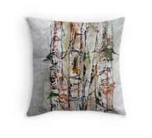 Bamboo in Color Throw Pillow