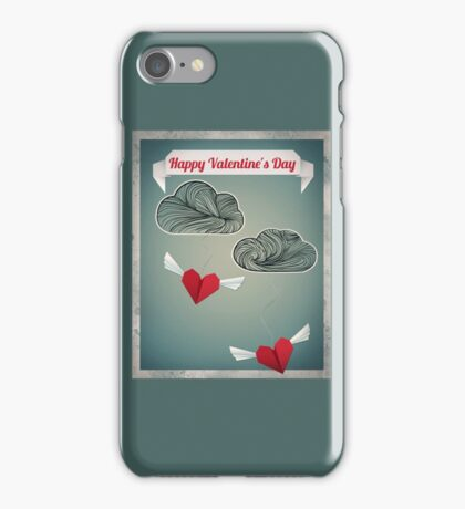 Flying Origami Hearts iPhone Case/Skin