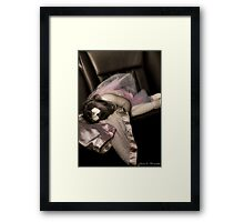 Sleepy in a Limo Framed Print