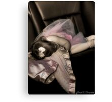 Sleepy in a Limo Canvas Print