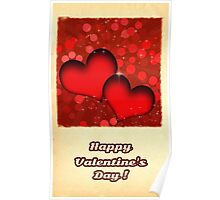 Happy Valentine's day card Poster
