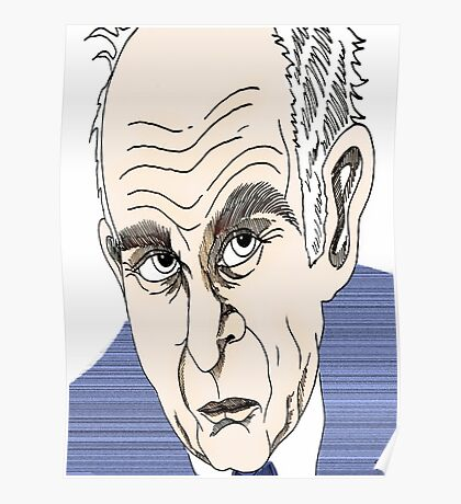 Vince Cable Cartoon Caricature Poster