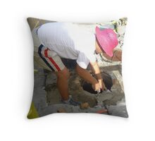 """ 85 degrees and rising."" Throw Pillow"
