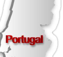 Map of Portugal Sticker