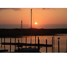 Sunset from Gold Beach Harbor Photographic Print