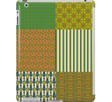 Earth Colours Abstract Patterns Faux Patchwork iPad Case/Skin