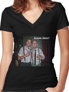 Alcohol Abuse Women's Fitted V-Neck T-Shirt