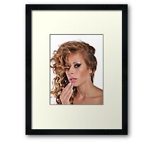 Stunning Beauty with amazing Make Up Framed Print