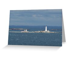 Boston and Graves Lighthouses Greeting Card