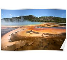 Grand Prismatic Spring Abstract Runoff Poster