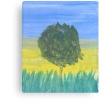 Tree in Tall Grass Canvas Print