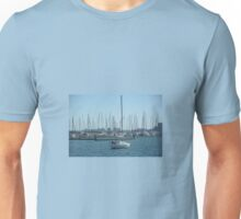 BOAT ON BLUE WATER Unisex T-Shirt