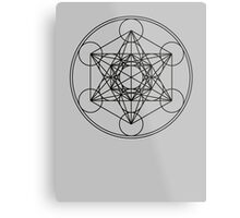Metatrons Cube, Flower of life, Sacred Geometry Metal Print