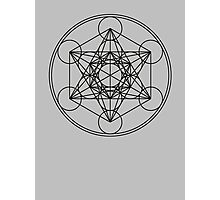 Metatrons Cube, Flower of life, Sacred Geometry Photographic Print