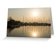 Let's Sail - Sunny Morning Marina Greeting Card