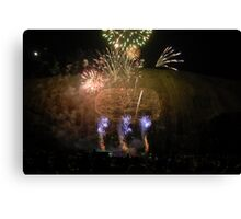 Stone Mountain Laser Light Show Canvas Print