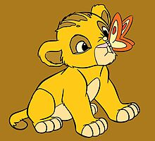 Baby Simba and Butterfly by steffirae
