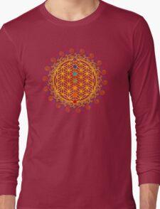 FLOWER OF LIFE, CHAKRAS, SPIRITUALITY, YOGA, ZEN,  Long Sleeve T-Shirt