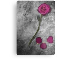 Beauty and the Beast Rose Metal Print