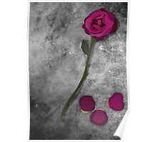 Beauty and the Beast Rose Poster