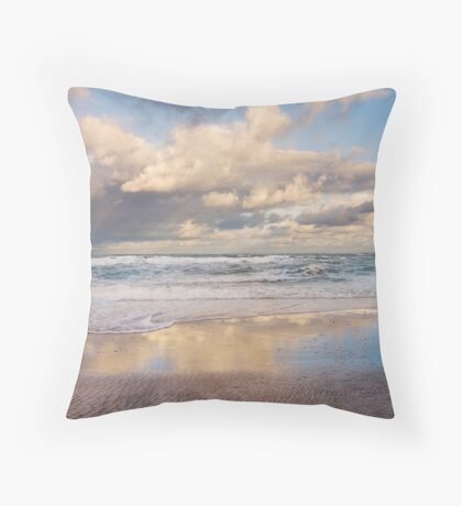 Inverness Beach Morning NS Throw Pillow