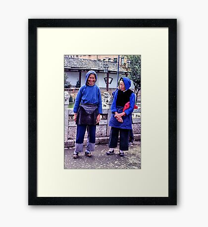 Bound feet, the last to suffer Framed Print