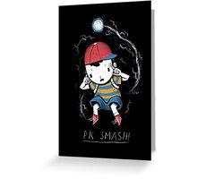 PK smash Greeting Card