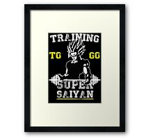 TRAINING TO GO SUPER SAIYAN! (WHITE) Framed Print