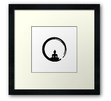 Enso Zen Circle of Enlightenment,  Meditation, Buddha, Buddhism, Japan Framed Print