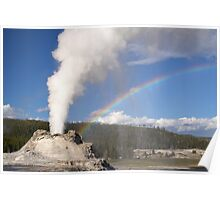 Rainbow and Castle Geyser Poster