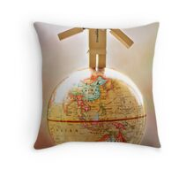 .world domination. Throw Pillow