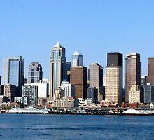 Seattle Skyline Fourteen by Rick Lawler