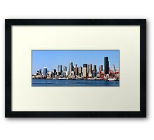 Seattle Skyline Fourteen Framed Print