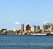 Seattle Skyline Thirteen by Rick Lawler