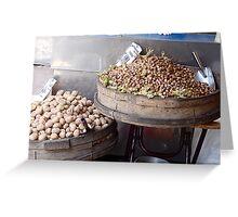 Walnuts and Peanuts Greeting Card