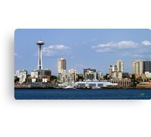 Seattle Skyline Eleven Canvas Print
